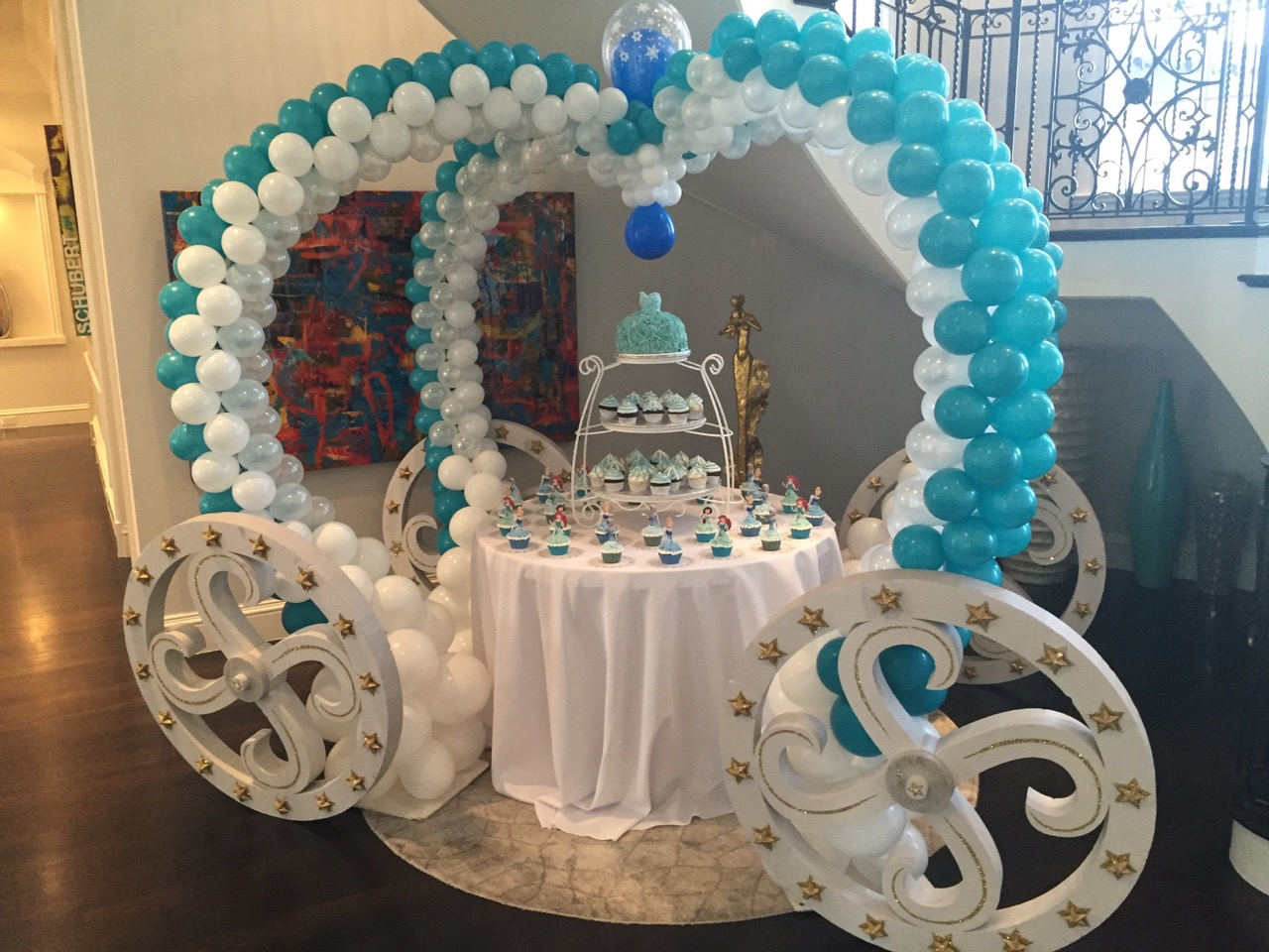 Princess Carriage Balloon Decoration